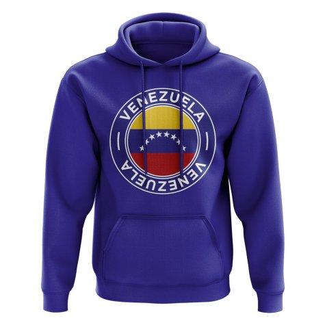 Venezuela Football Badge Hoodie (Royal)