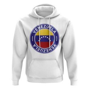 Venezuela Football Badge Hoodie (White)