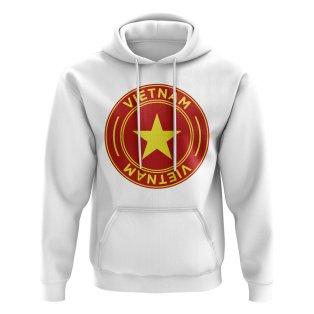 Vietnam Football Badge Hoodie (White)