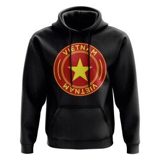 Vietnam Football Badge Hoodie (Black)