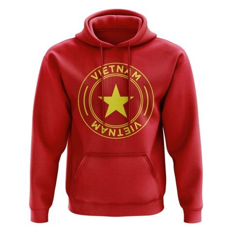 Vietnam Football Badge Hoodie (Red)