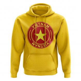 Vietnam Football Badge Hoodie (Yellow)