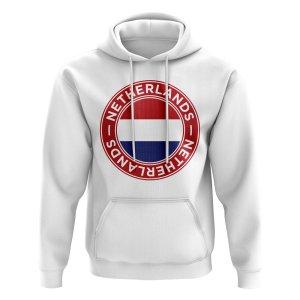 Netherlands Football Badge Hoodie (White)