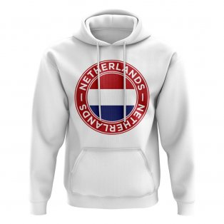 Netherlands Football Badge Hoodie (White)