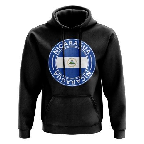 Nicaragua Football Badge Hoodie (Black)