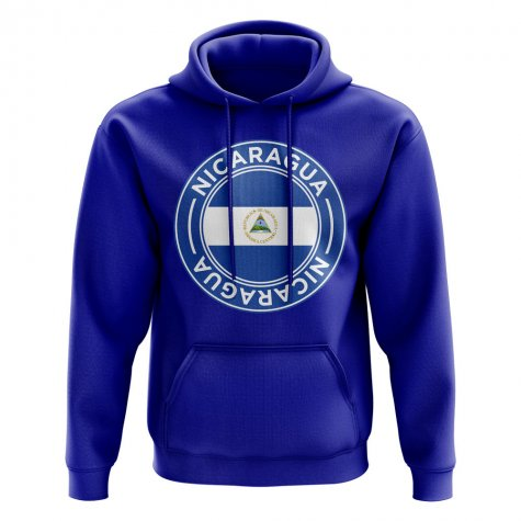 Nicaragua Football Badge Hoodie (Royal)