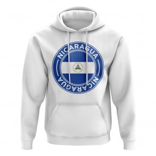 Nicaragua Football Badge Hoodie (White)