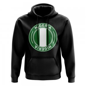 Nigeria Football Badge Hoodie (Black)
