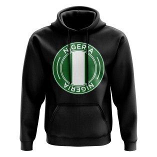 Nigeria Football Badge Hoodie (Black)