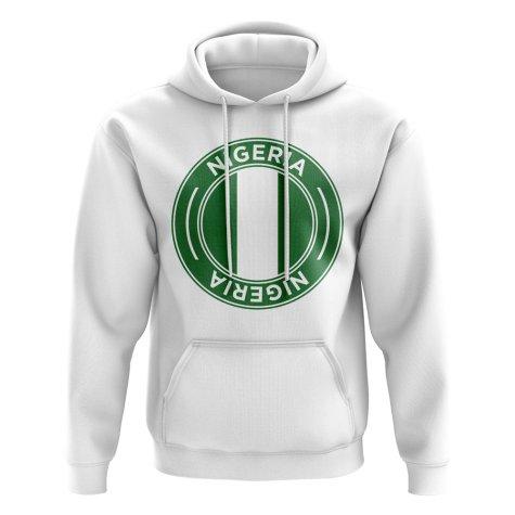 Nigeria Football Badge Hoodie (White)