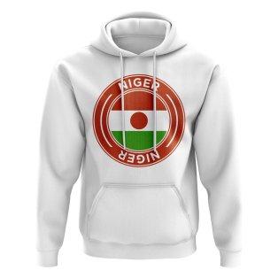 Niger Football Badge Hoodie (White)