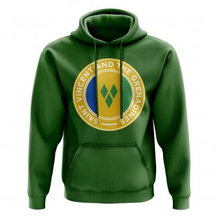 Saint Vincent and The Grenadines Football Badge Hoodie (Green)