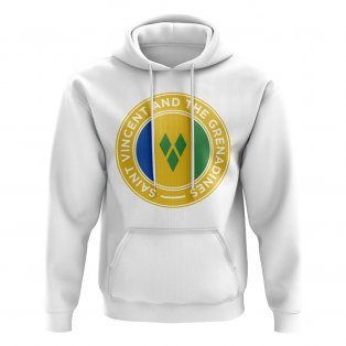 Saint Vincent and The Grenadines Football Badge Hoodie (White)