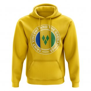 Saint Vincent and The Grenadines Football Badge Hoodie (Yellow)