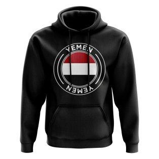 Yemen Football Badge Hoodie (Black)