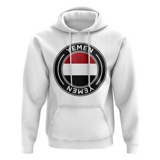 Yemen Football Badge Hoodie (White)