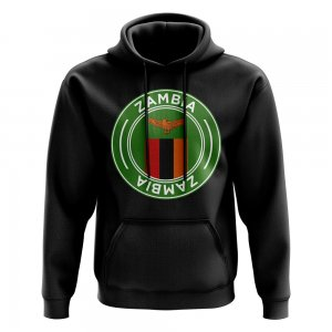 Zambia Football Badge Hoodie (Black)