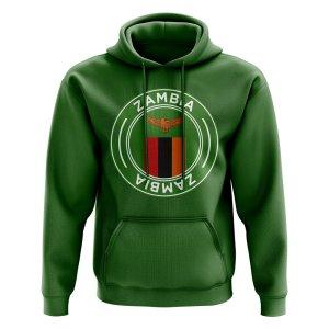 Zambia Football Badge Hoodie (Green)