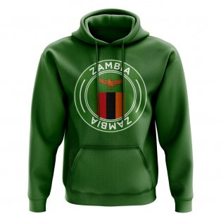 Zambia Football Badge Hoodie (Green)