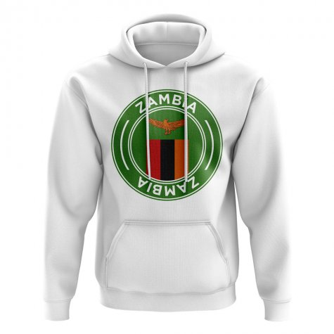 Zambia Football Badge Hoodie (White)