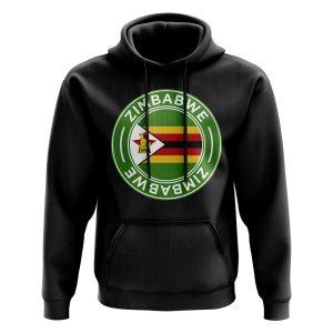 Zimbabwe Football Badge Hoodie (Black)