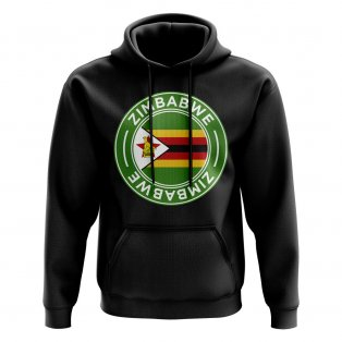 Zimbabwe Football Badge Hoodie (Black)