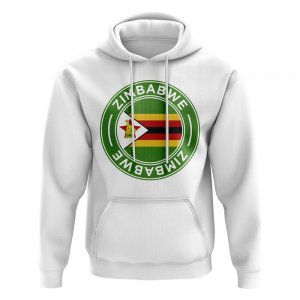 Zimbabwe Football Badge Hoodie (White)