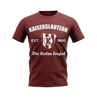 Kaiserslautern Established Football T-Shirt (Maroon)