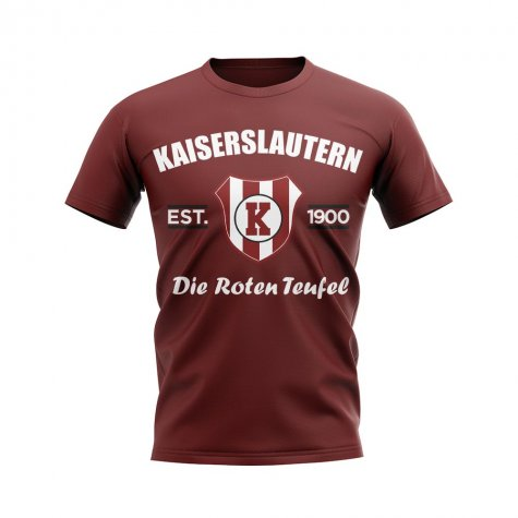 Kaiserslautern Established Football T-Shirt (Maroon)