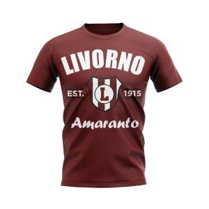 Livorno Established Football T-Shirt (Maroon)