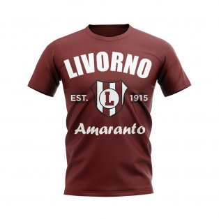 Livorno Established Football T-Shirt (Maroon)