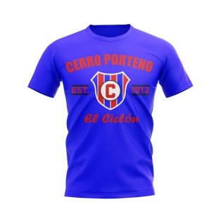 Cerro Porteno Established Football T-Shirt (Royal)