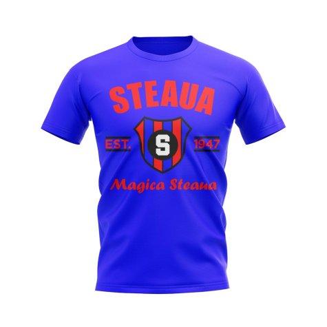 Steaua Bucharest Established Football T-Shirt (Royal)