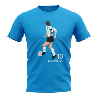 Diego Maradona Argentina Player Graphic T-Shirt (Sky Blue)