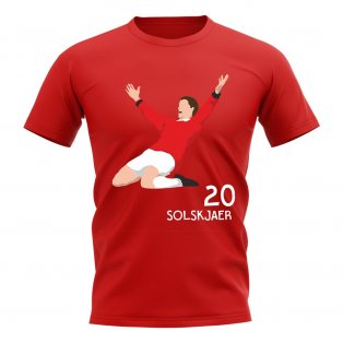 Ole Gunnar Solskjaer Man Utd Player Graphic T-Shirt (Red)