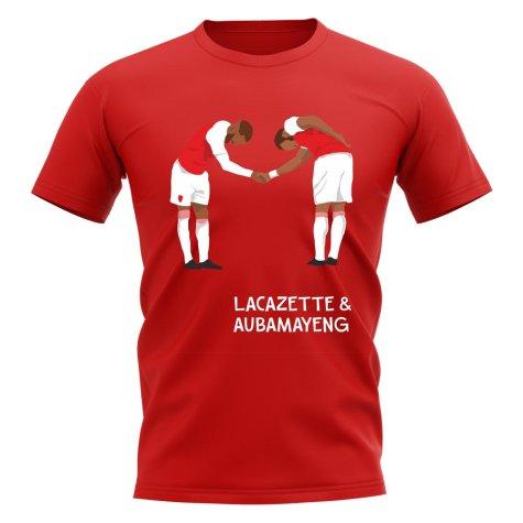 Lacazette Aubameyang Arsenal Player Graphic T-Shirt (Red)
