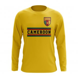 Cameroon Core Football Country Long Sleeve T-Shirt (Yellow)