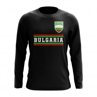 Bulgaria Core Football Country Long Sleeve T-Shirt (Black)