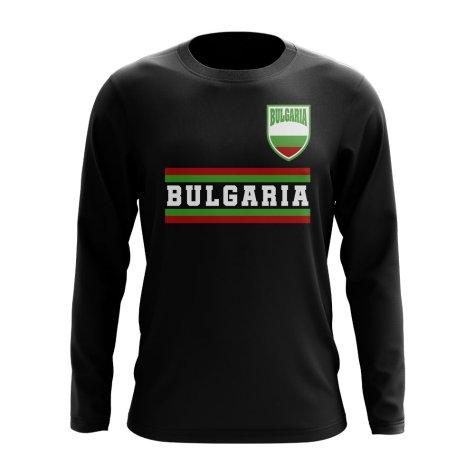 Bulgaria Core Football Country Long Sleeve T-Shirt (Black)