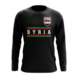 Syria Core Football Country Long Sleeve T-Shirt (Black)