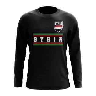 Syria Core Football Country Long Sleeve T-Shirt (Black)