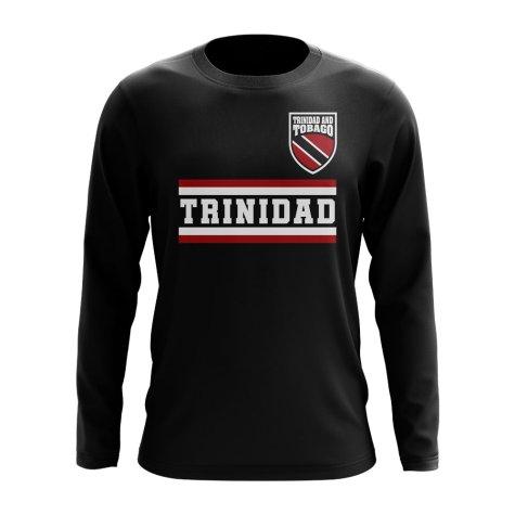 Trinidad and Tobago Core Football Country Long Sleeve T-Shirt (Black)