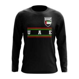UAE Core Football Country Long Sleeve T-Shirt (Black)