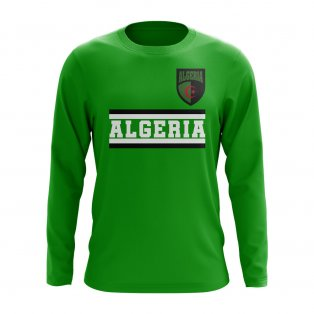 Algeria Core Football Country Long Sleeve T-Shirt (Green)
