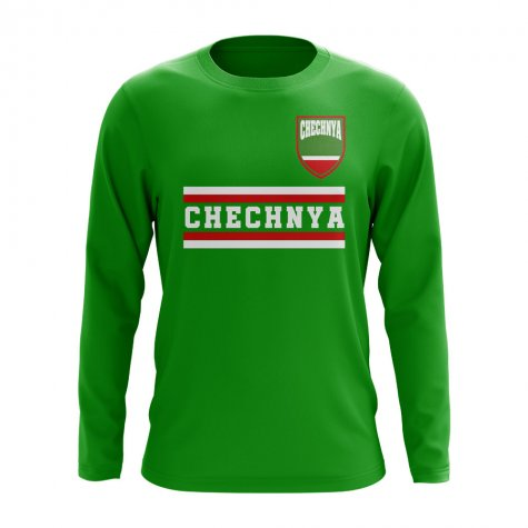 Chechnya Core Football Country Long Sleeve T-Shirt (Green)