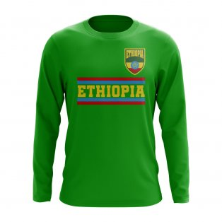 Ethiopia Core Football Country Long Sleeve T-Shirt (Green)