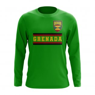 Grenada Core Football Country Long Sleeve T-Shirt (Green)