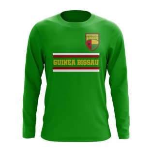 Guinea Bissau Core Football Country Long Sleeve T-Shirt (Green)