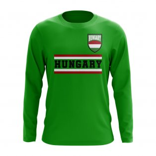 Hungary Core Football Country Long Sleeve T-Shirt (Green)