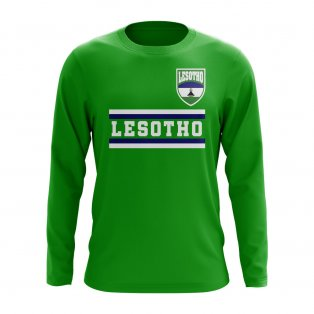 Lesotho Core Football Country Long Sleeve T-Shirt (Green)